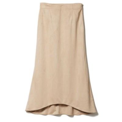 スカート フェイクスエードナロースカート