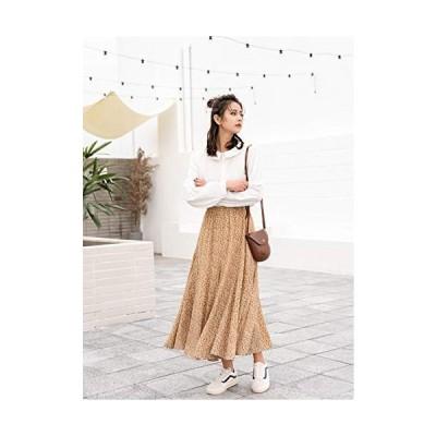Sotia スカート マキシスカート ロングスカート 花柄 レディーススカート 旅行 着痩せ トレンド ゆったり お出か