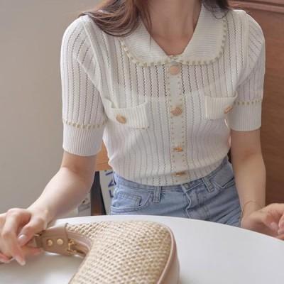TWEE レディース ニット/セーター Haze Punching Collar Knitwear