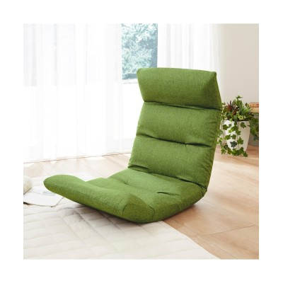 【荷造送料0円実施中】【日本製】頭部・背部・脚部リクライニング式座椅子(脚部上タイプ) 座椅子・ビーズクッション, Sofas(ニッセン、nissen)