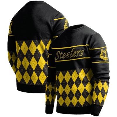 """メンズ セーター """"Pittsburgh Steelers"""" Retro Sweater - Black"""