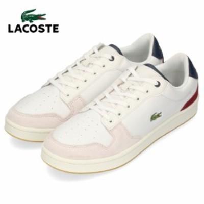 ラコステ メンズ スニーカー LACOSTE MASTERS CUP 319 2 SMA0037-OND OFF WHT/NVY/DK RED ホワイト レザー 靴
