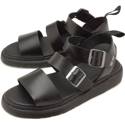 ドクターマーチン Dr.Martens レザーサンダル グリフォン GRYPHON BRANDO メンズ レディース 靴 BLACK 15695001 SS19