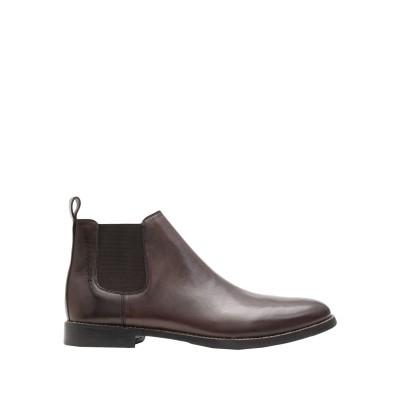 LEONARDO PRINCIPI ショートブーツ ブラウン 38 牛革(カーフ) 100% ショートブーツ