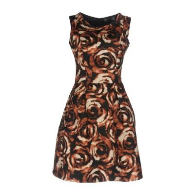 SATÌNE ミニワンピース&ドレス ブラウン 44 ポリエステル 100% ミニワンピース&ドレス