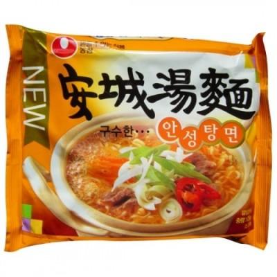 *韓国食品*マイルドな味わい!韓国のインスタントラーメンと言えば濃心・安城湯麺! 125g[デボラ]