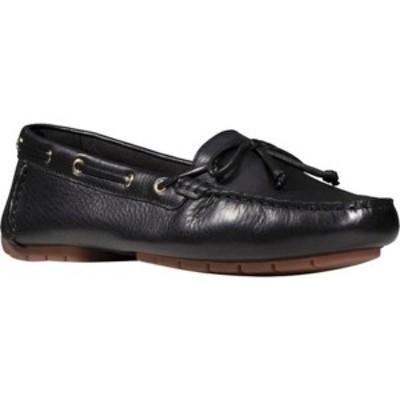 クラークス レディース オックスフォード シューズ C Mocc Boat Shoe Black Full Grain Leather