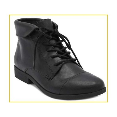 LONDON FOG Crissy Dress Ankle Boot Ladies Lace Up Bootie with Collar Black 9
