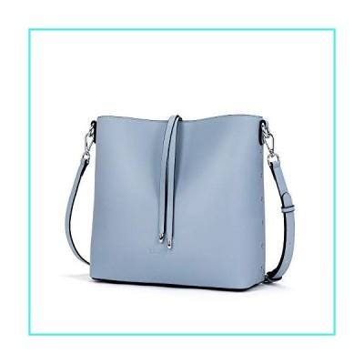 【新品】WESTBRONCO Women Handbags Vegan Leather Designer Shoulder Tote Purse Casual Hobo Crossbody Bucket Bags(並行輸入品)