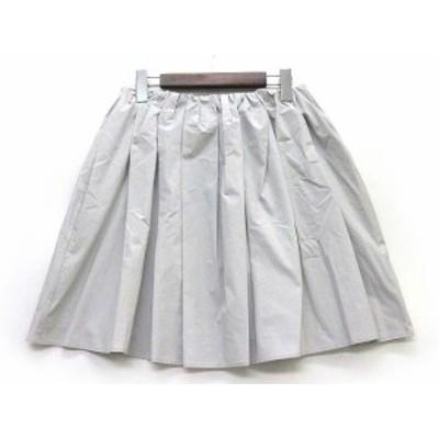 【中古】スピック&スパン Spick&Span タイプライター ボリューム タック スカート 綿 麻 コットン リネン ライトグレー 40 レデ