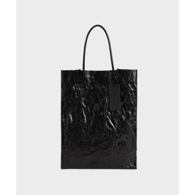 トートバッグ バッグ クランプルドエフェクト トートバッグ / Crumpled-Effect Tote Bag