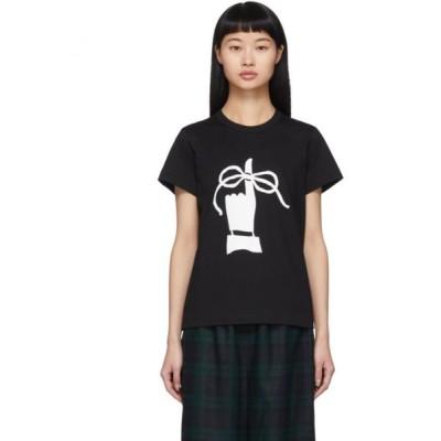 コム デ ギャルソン Tricot Comme des Garcons レディース Tシャツ トップス Black Knot Finger T-Shirt Black/White