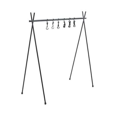 Anlik ハンガーラック アルミ製 折り畳み 簡単組立 キャンプ 収納バッグ付 (ブラック Large)
