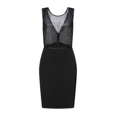 VITTORIA ROMANO ミニワンピース&ドレス ブラック 42 ナイロン 98% / ポリウレタン 2% / ポリエステル ミニワンピース&