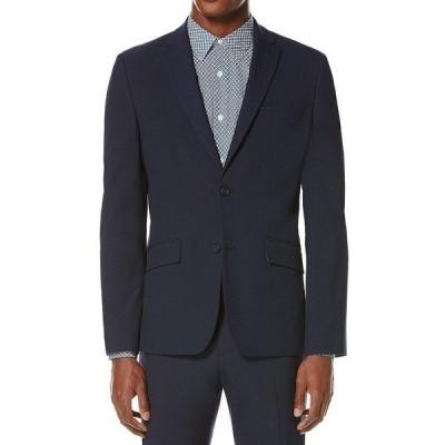 ペリーエリス メンズ ジャケット&ブルゾン アウター Slim-Fit Washable Tech Suit Separates Jacket Navy