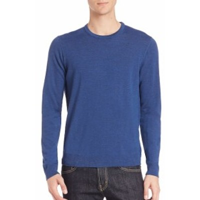 サックスフィフスアベニュー メンズ トップス セーター ニット Long Sleeve Merino Wool Sweater