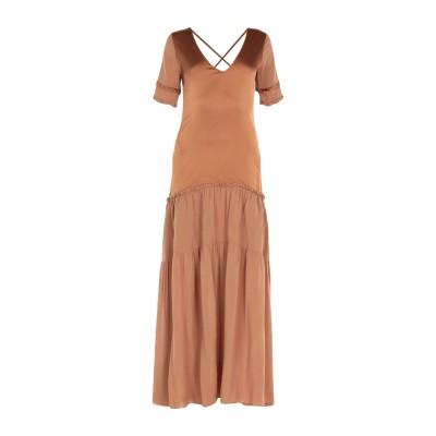 マニラ グレース MANILA GRACE ロングワンピース&ドレス キャメル 40 レーヨン 100% ロングワンピース&ドレス