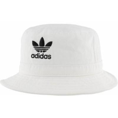 アディダス メンズ 帽子 アクセサリー adidas Originals Adult Washed Bucket Hat White/Black 2