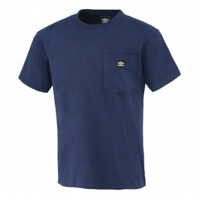 メール便送料無料 アンブロ ライフスタイル HE 半袖Tシャツ/ワンポケット ユニセックス ULURJA60-NVY