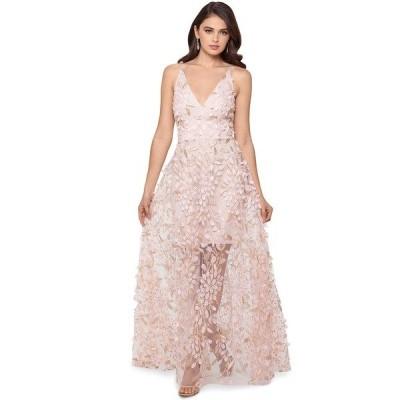エスケープ ワンピース トップス レディース 3D Embroidered Floral Gown Blush Pink