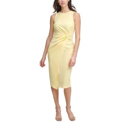 ゲス ワンピース トップス レディース Twist-Front Scuba-Crepe Sheath Dress Butter