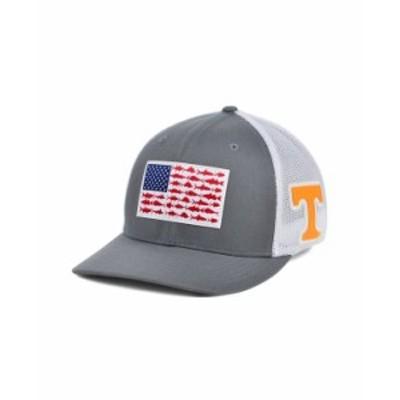 コロンビア メンズ 帽子 アクセサリー Tennessee Volunteers PFG Fish Flag Stretch-fitted Cap Charcoal/White