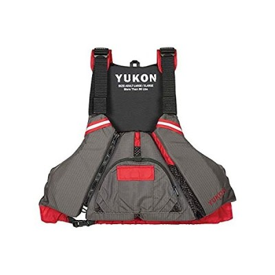 Yukon Charlie's Sport Paddle Life Vest, Carbon/Deep Red, Large/XL (13008-05 並行輸入品
