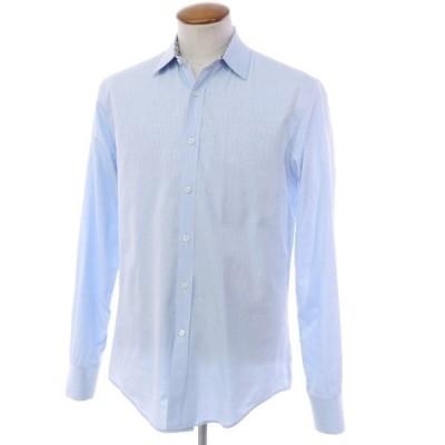 リバティ LIBERTY コットン カジュアルシャツ ライトブルー 16
