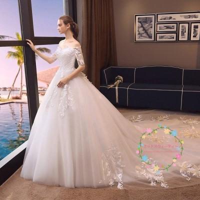 ウェディングドレス マタニティ エンパイア 花嫁 ロングドレス 安い  結婚式 披露宴 二次会 パーティードレス 白 ブライダル wedding dress 大きいサイズ