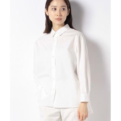 【レリアン】 長袖コットンシャツ レディース オフホワイト 7 Leilian