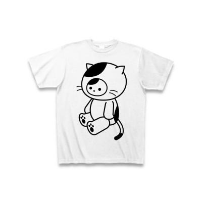 着ぐるみバイト見習いねこ Tシャツ(ホワイト)