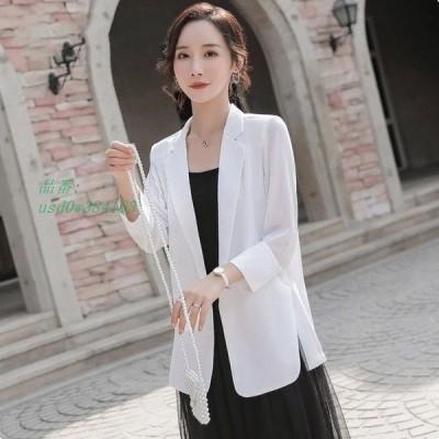 サマージャケット 30代 スーツジャケット 40代 夏 テーラードジャケット 大きいサイズ ホワイトジャケット 薄手 通勤 OL レディース 白 黒