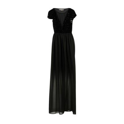 RUE 45 ロングワンピース&ドレス ブラック XS 100% ポリエステル ポリウレタン ナイロン レーヨン ロングワンピース&ドレス