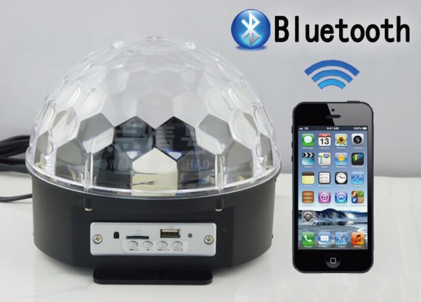 9色魔球 藍芽喇叭 led魔球 舞台燈光 水晶魔球 七彩燈 激光燈 旋轉燈 藍芽 mp3 聲控