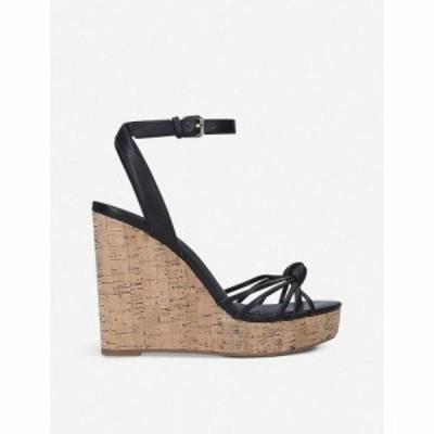 アルド ALDO レディース サンダル・ミュール ウェッジソール シューズ・靴 Kaoedia faux-leather wedge sandals BLACK