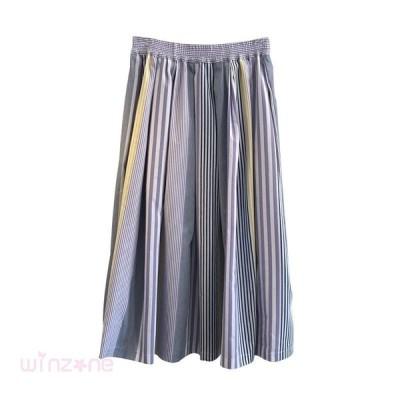 レディーススカート体型カバー夏春秋普段着着やすい美しいカジュアルシンプルゆったり軽快ボディラインAラインフリーサイズ