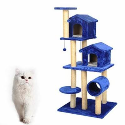 YM 多層高級猫クライミングフレーム猫スクラッチボード猫木青い猫ジャンプ (新古未使用品)