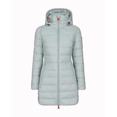 セーブザダック ジャケット・ブルゾン レディース アウター Save The Duck Women's Giga Hooded Long Coat Frozen Grey