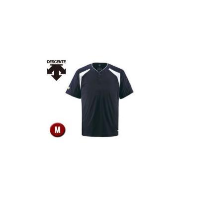 DESCENTE/デサント  DB205-DNVY ベースボールシャツ(2ボタン) 【M】 (Dネイビー)