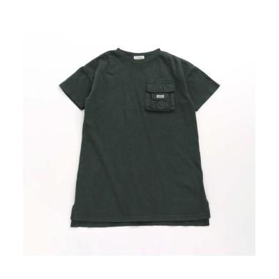 (F.O.KIDS/エフオーキッズ)ビッグシルエットワンピース/ グリーン
