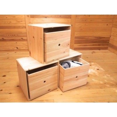 ひのきの収納フリーボックス お得な3個セット&収納ボックス3つ付き