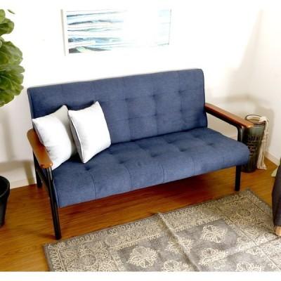 ソファー 2人掛け 2人用 ダイニングベンチ チェア 椅子 おしゃれ 北欧 安い 木製 二人用 一人暮らし ブルー 幅133 奥行73 高さ70 座面高38
