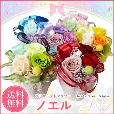 プリザーブドフラワー ギフト 選べる色 ノエル ケース入り 誕生日 プレゼント 女性 花 お祝い ブリザードフラワー お花 お誕生日 贈り物 クリスマス