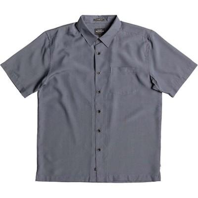 クイックシルバー Quiksilver メンズ 半袖シャツ トップス Cane Island Shirt Navy Blazer
