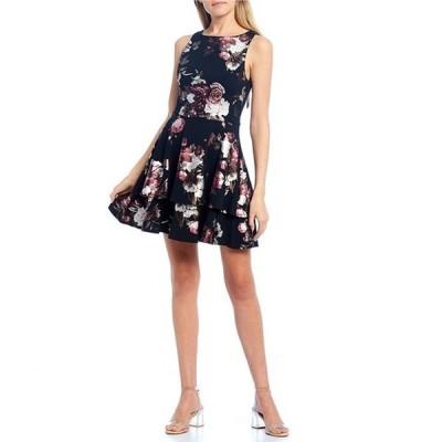 ビーダーリン レディース ワンピース トップス Foiled Floral Print Tie-Back Skater Dress