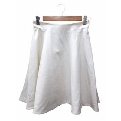 【中古】ピンキー&ダイアン ピンダイ PINKY&DIANNE フレアスカート ひざ丈 38 白 ホワイト /MN レディース