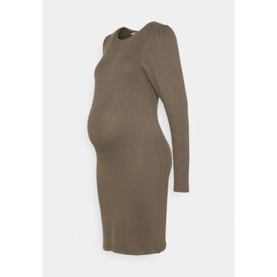 ピーシーズ マタニティ ワンピース レディース トップス PCMSIERRA DRESS - Shift dress - taupe