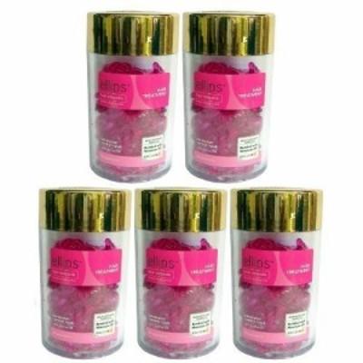 エリップス ellips ヘアビタミン洗い流さないヘアトリートメント(並行輸入品) (ピンク5本)