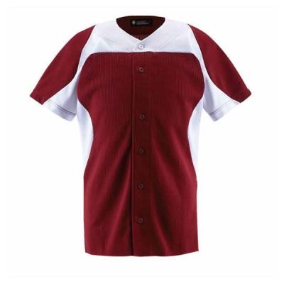 デサント 野球・ソフトボール用ユニフォームシャツ(ENSW・サイズ:XO) DESCENTE カラーコンビネーション フルオープンシャツ DS-DB1014-ENSW-XO 返品種別A