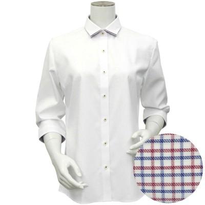 トーキョーシャツ TOKYO SHIRTS 形態安定ノーアイロン ワイドダブル衿 七分袖ビジネスワイシャツ (ホワイト)